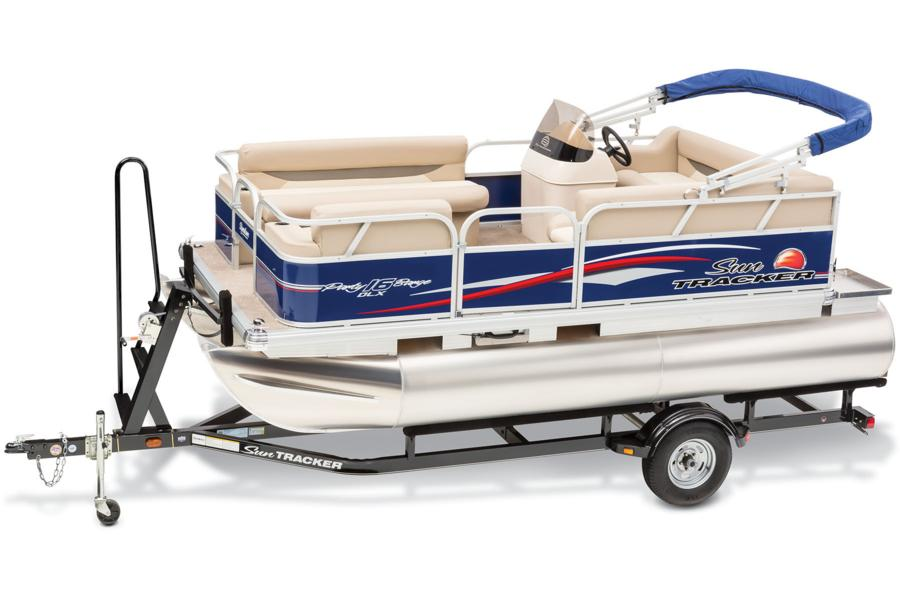 Sun tracker boats recreational pontoons 2015 party for Electric motor for pontoon boat