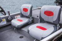 Boat helm driver and passenger seats