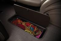"88"" (2.24 m) long, 23"" (58.4 cm) deep in-floor storage compartment"