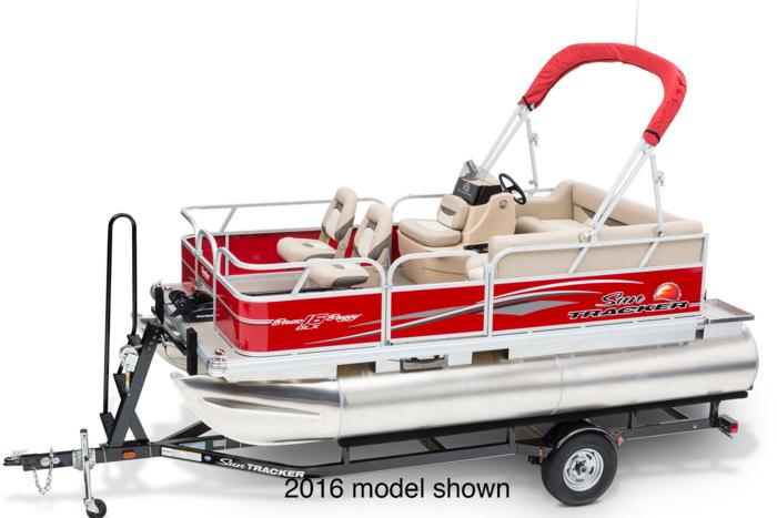 Sun tracker boats fishing pontoons 2017 bass buggy 16 for Pontoon boat without motor for sale