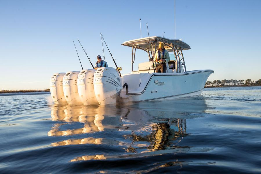 Mako boats offshore boats 2018 414 cc bluewater family for Ma fishing license cost