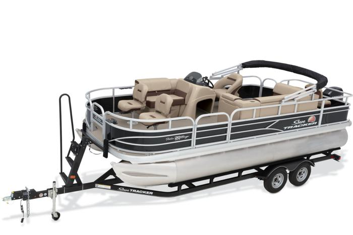 Sun tracker boats fishing pontoons 2018 fishin barge for Pontoon boat without motor for sale
