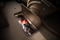 "88"" (2.24 m) long, 23"" (58.4 cm) deep lighted in-floor storage compartment"