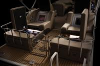 Port & starboard aft-facing lounges w/storage below