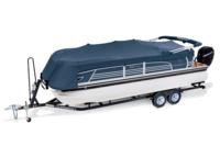 Boat, motor, optional trailer & Rail-Lock™ mooring cover w/bow extension