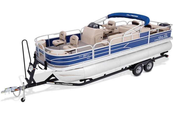 Sun tracker boats fishing pontoons 2017 fishin barge for Fishing boat cost
