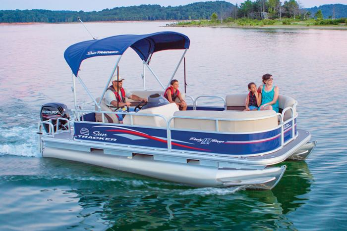 SUN TRACKER Boats : Recreational Pontoons : 2017 PARTY BARGE 18 DLX ...