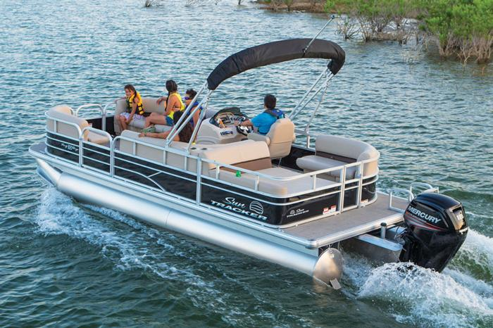 SUN TRACKER Boats : Recreational Pontoons : 2017 PARTY BARGE 22 DLX ...