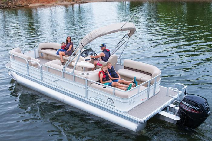 SUN TRACKER Boats : Recreational Pontoons : 2017 PARTY BARGE 24 DLX ...
