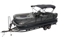 Exclusive QuickLift™ 11' (3.35 m) color-keyed Bimini top w/LED courtesy lights & protective boot