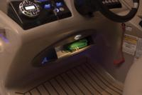 Flip-out console drawer