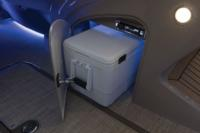 Below-console cooler storage space w/door (cooler not included)
