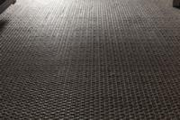 Luxurious cool-touch, padded woven flooring