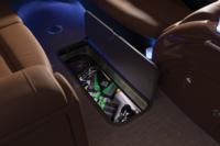 "88"" (2.24 m) long, 23"" (58.42 cm) deep lighted in-floor storage compartment"