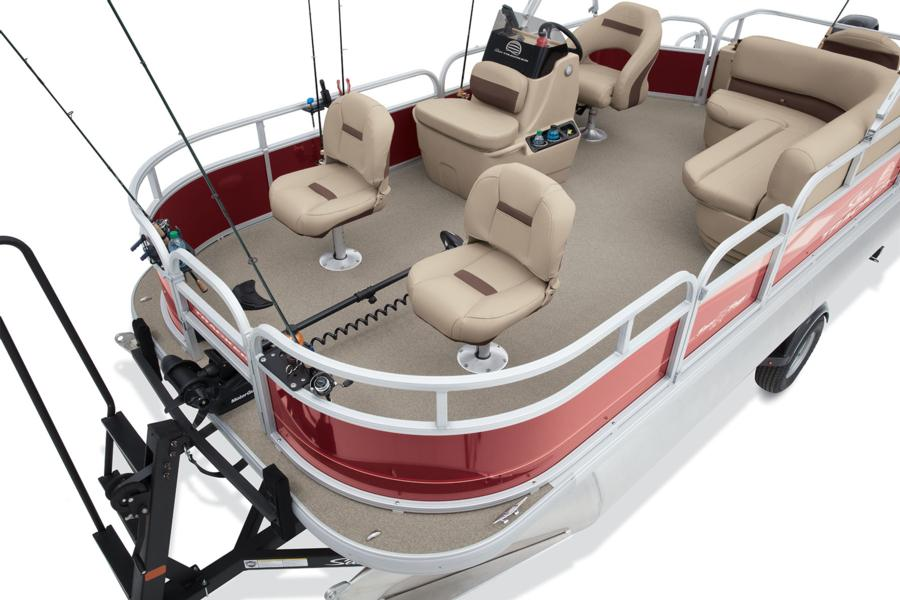 2018 Sun Tracker Bass Buggy 18 DLX fishing pontoon red stokley's marine