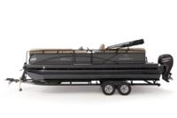Black Metallic Diamond Coat, Charcoal fencing & Tan interior<br>Exclusive QuickLift™ 11' (3.35 m) color-keyed Bimini top w/Diamond Coat™, LED courtesy lights & protective boot (in trailer position)