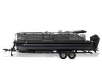 Black Metallic Diamond Coat, Charcoal fencing & Platinum interior<br>Exclusive QuickLift™ 11' (3.35 m) color-keyed Bimini top w/Diamond Coat™, LED courtesy lights & protective boot (in trailer position)