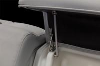 Hold-open hatch spring hardware for the Stow More™ system