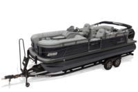 2019 REGENCY 230 LE3 w/standard Mercury® 200 L FourStroke w/DTS controls motor, shown on optional trailer <br>Powered 10' (3.05 m) color-keyed Bimini top w/Diamond Coat™, aft-facing camera, LED courtesy lights & protective boot (in trailer position)