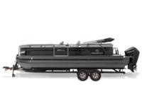 Charcoal Metallic Diamond Coat, Black fencing & Platinum interior<br>Powered 10' (3.05 m) color-keyed Bimini top w/Diamond Coat™, aft-facing camera, LED courtesy lights & protective boot (in trailer position)
