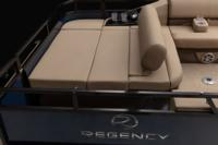 Switch-back lounge, adjustable to face forward or aft