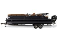 Black Metallic Diamond Coat, Black fencing & Cognac interior<br>Powered 10' (3.05 m) color-keyed Bimini top w/Diamond Coat™, aft-facing camera, LED courtesy lights & protective boot (in trailer position)
