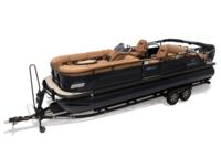 2019 REGENCY 250 LE3 Sport w/standard Mercury® 250 L Verado® motor, shown on optional trailer <br>Powered 10' (3.05 m) color-keyed Bimini top w/Diamond Coat™, aft-facing camera, LED courtesy lights & protective boot (in trailer position)