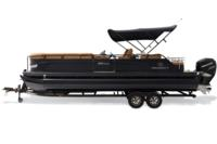 Black Metallic Diamond Coat, Black fencing & Cognac interior<br>Powered 10' (3.05 m) color-keyed Bimini top w/Diamond Coat™, aft-facing camera, LED courtesy lights & protective boot (shown deployed)