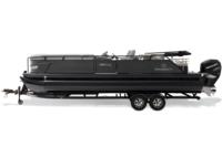 Black Metallic Diamond Coat, Charcoal fencing & Platinum interior<br>Powered 10' (3.05 m) color-keyed Bimini top w/Diamond Coat™, aft-facing camera, LED courtesy lights & protective boot (in trailer position)