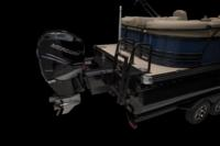 Full-width aft swim deck w/removable tournament-style ski tow pylon. <br>Shown w/optional trailer.