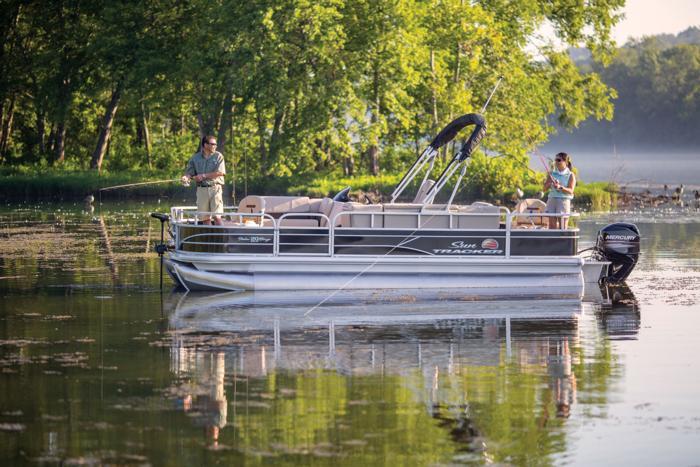 SUN TRACKER Boats Fishing Pontoons 2019 FISHIN BARGE 20