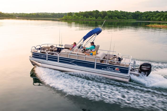 Sun Tracker Pontoon Boats >> Sun Tracker Boats Fishing Pontoons 2019 Fishin Barge 22